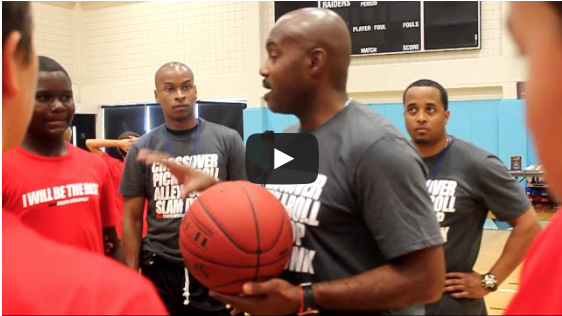 Tim Hardaway at Dibia Skills Clinic