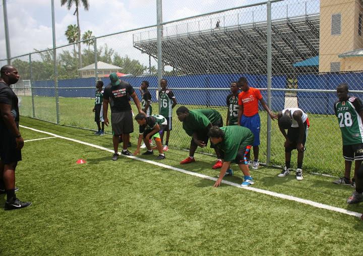 2014 DIBIA Football Clinic with Mayor Jimenez